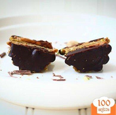 Фото рецепта: «Кексы с арахисовым маслом и шоколадом»
