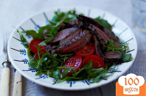 Фото рецепта: «Тальятта с рукколой и помидорами»