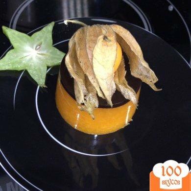 Фото рецепта: «Шокаладно-мандариновое желе»