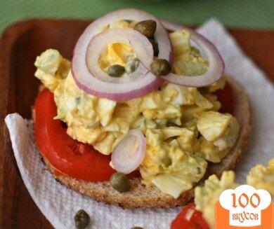 Фото рецепта: «Яичный салат с каперсами»