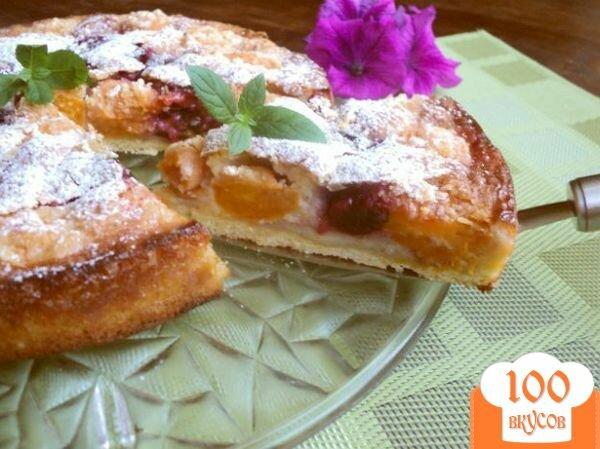 Фото рецепта: «Пирог с франжипаном и фруктами»