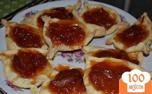 Фото рецепта: «Слойкис абрикосовым вареньем»