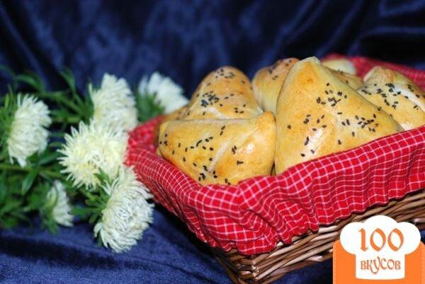 Фото рецепта: «Пирожки с паштетом из куриной печени и сердечек»