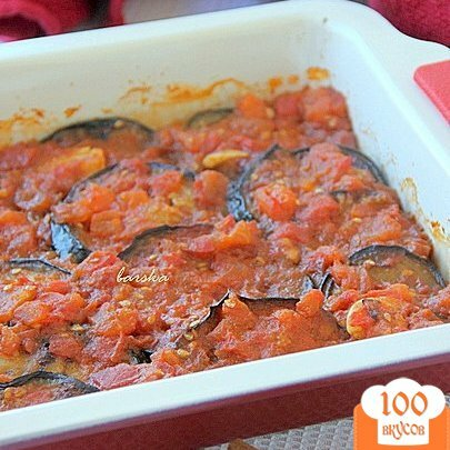 Фото рецепта: «Баклажаны под томатным соусом с корицей»