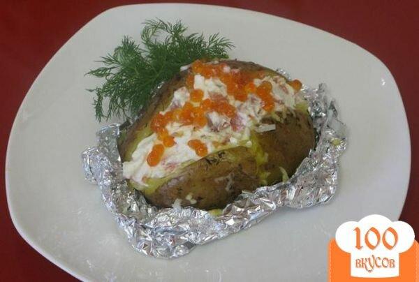 Фото рецепта: «Картофель с сырно-рыбной начинкой»