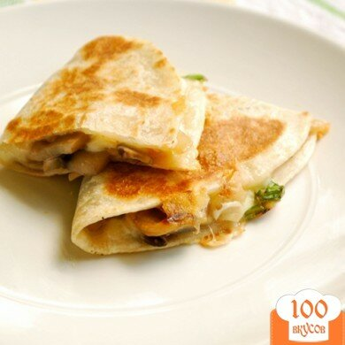 Фото рецепта: «Вегетарианская кесадилья»