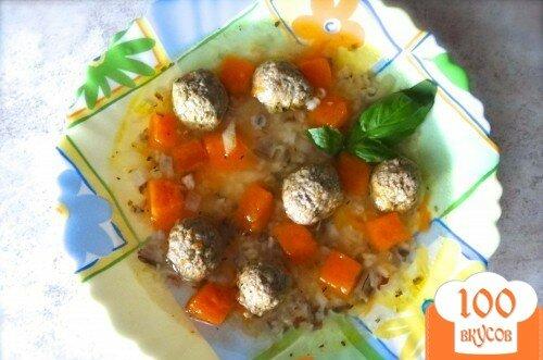 Фото рецепта: «Супчик с фрикадельками и тыквой»