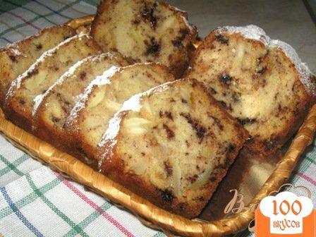 Фото рецепта: «Кекс с яблоками и шоколадом»