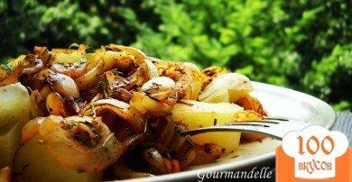 Фото рецепта: «Картофель с луком и специями»
