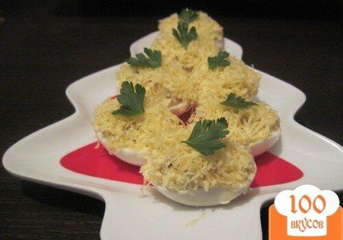 Фото рецепта: «Яйца фаршированные сыром и беконом»