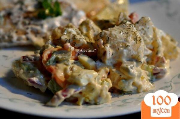 Фото рецепта: «Салат картофельный Аллилуйя»
