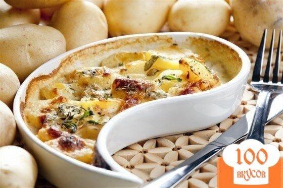 Фото рецепта: «Треска, запеченная с картофелем»