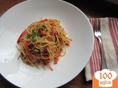Фото рецепта: «Арахисовые спагетти с кунжутом»