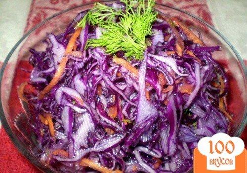 Фото рецепта: «Капуста с дайконом и морковью»