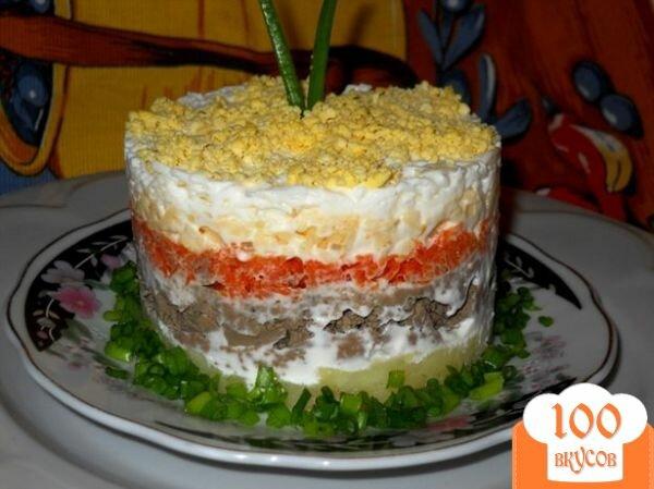 Не слоеный салат рецепт с пошагово