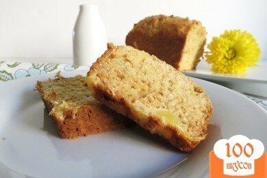 Фото рецепта: «Хлеб с кусочками ананаса и кокоса»