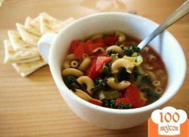 Фото рецепта: «Овощной суп с вермишелью»