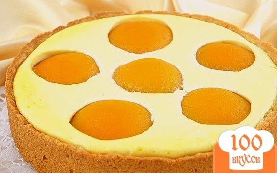 Фото рецепта: «Творожный пирог с персиками»