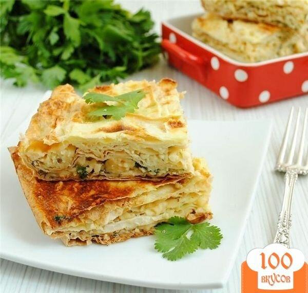 Фото рецепта: «Пирог из лаваша с сыром»