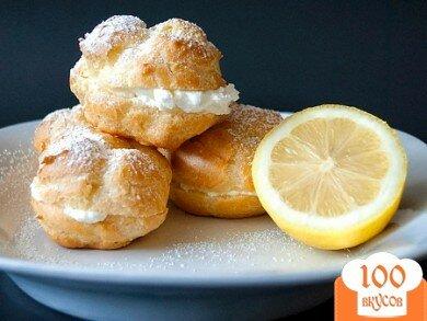 Фото рецепта: «Эклеры с лимонным кремом»
