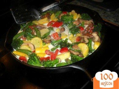 Фото рецепта: «Паста Примавера с овощами»