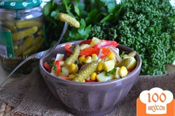 Фото рецепта: «Картофельный салат с корнишонами»