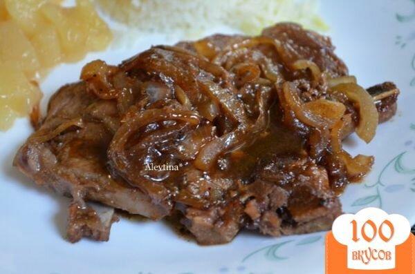 Фото рецепта: «Свиные отбивные с кленовым сиропом»