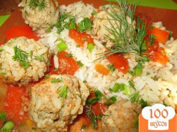 Фото рецепта: «Ежики со свежей зеленью в томатном соусе»