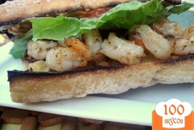 Фото рецепта: «Бутерброды с креветками»