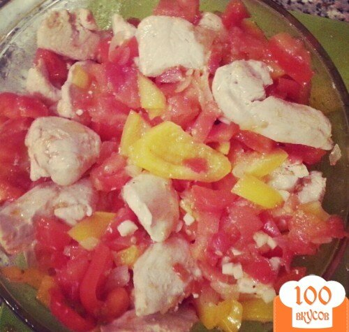Фото рецепта: «Курица, запечёная с овощами»