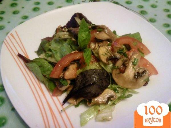 Фото рецепта: «Овощной салат с грибами»