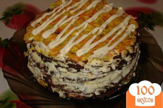 Фото рецепта: «Печеночный торт (печень куриная)»