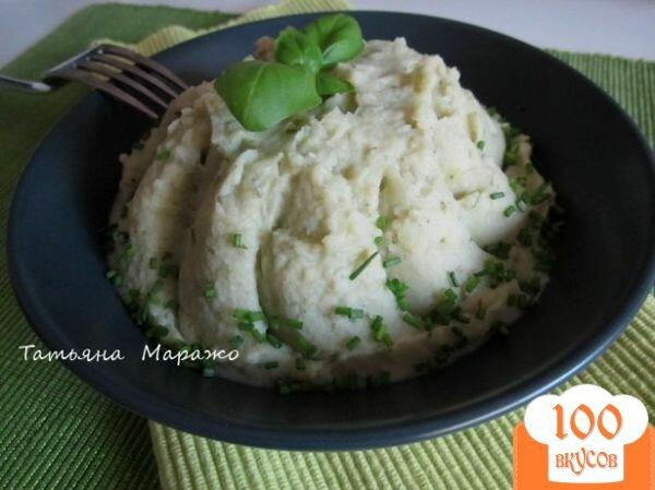 Фото рецепта: «Картофельное пюре с базиликом»