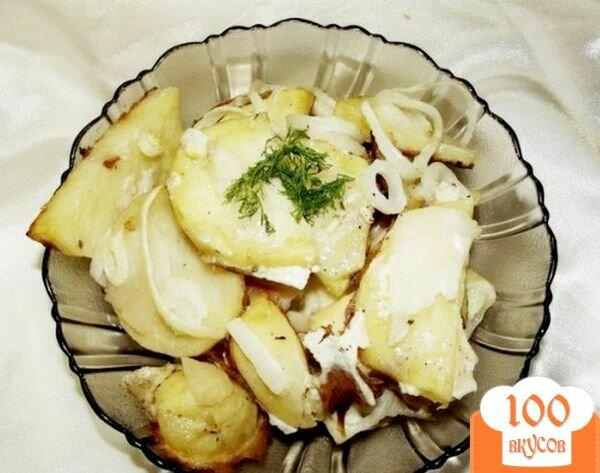 Фото рецепта: «Картофель маринованный, запеченный с луком»