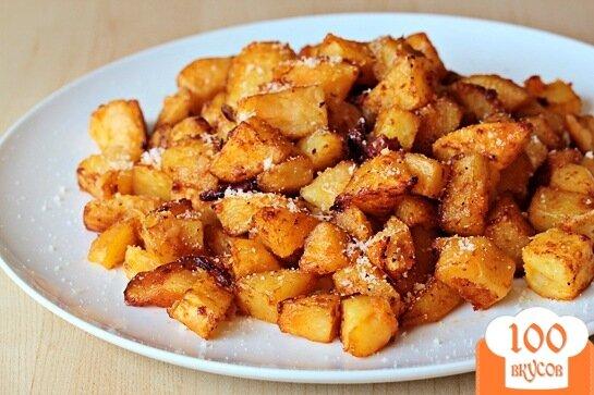 Фото рецепта: «Жареный в духовке картофель с сыром»