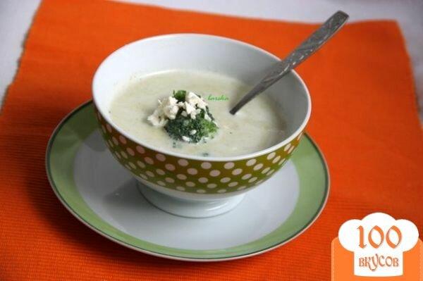 Фото рецепта: «Брокколи крем-суп с творожной горгонзолой»