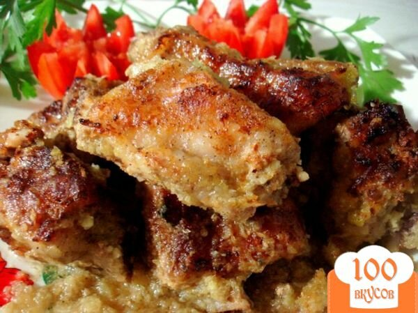 Фото рецепта: «Свиные рёбрышки из духовки»
