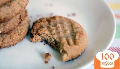 Фото рецепта: «Вегетарианское арахисовое печенье»