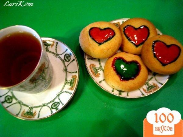 Фото рецепта: «Ароматное печенье с мармеладом»