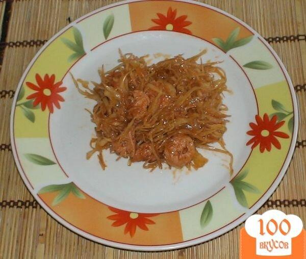 Фото рецепта: «Капуста с сосисками»