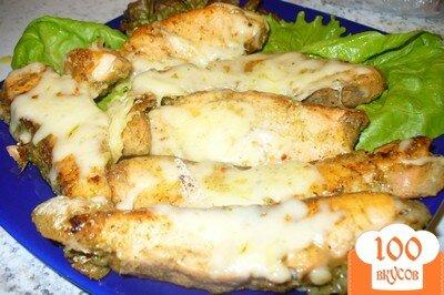 Фото рецепта: «Семга с сыром в виноградно-ореховом соусе»