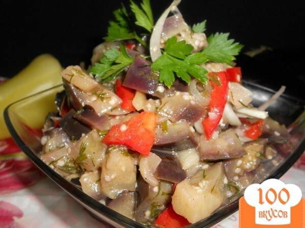 Фото рецепта: «Салат из баклажанов и перца»