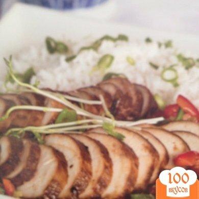 """Фото рецепта: «""""Стир фру"""" курица со стручковым горошком»"""