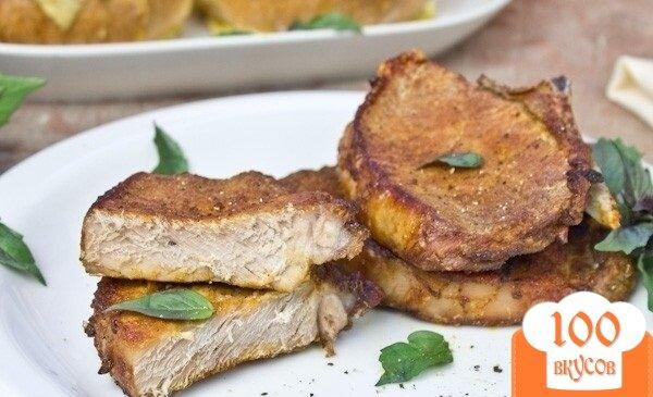 Фото рецепта: «Пикантные свиные стейки»