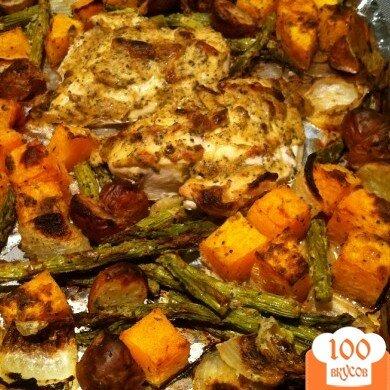 Фото рецепта: «Жаркое из курицы с овощами и приправами»