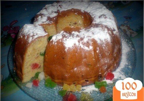 Фото рецепта: «Кекс с изюмом и цукатами»