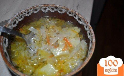 Фото рецепта: «Суп рисовый из капусты»