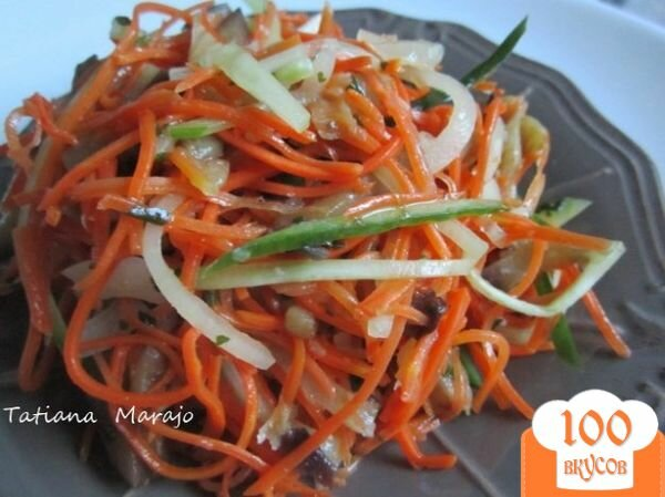 Фото рецепта: «Морковный салат с баклажанами»