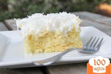 Фото рецепта: «Сливочно-кокосовый пирог»