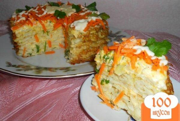 Фото рецепта: «Тортик из капустных блинчиков»